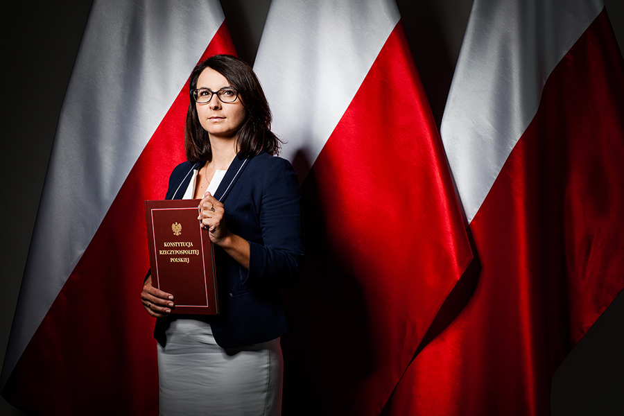 Kamila Gasiuk-Pihowicz, lawyer and politician, professional image session, Constitution of Poland.